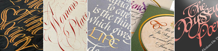 Calligraphy in Cornwall samples by john Knight